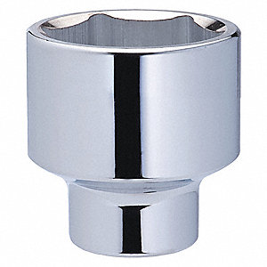 "2-1/4"" Alloy Steel Socket with 3/4"" Drive Size and Chrome Finish"