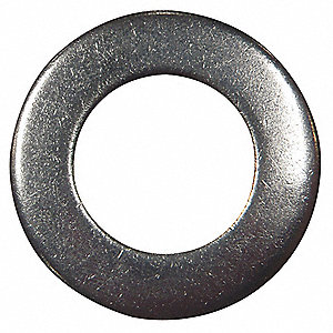 "3/8""x1"" O.D., Extra Thick Flat Washer, Stainless Steel, 18-8, Plain, PK10"