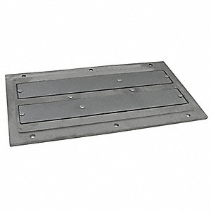 Plate Magnet,18-1/2 x5-5/8 In,Ceramic,SS