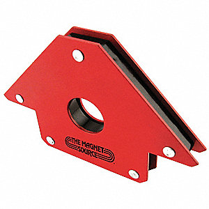 Welding Angle,Mag,6-1/8In L,Steel,Red