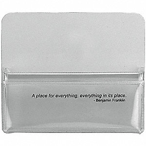 Magnetic Pouch,4-3/4 W x4 H x5/8 In,PK2