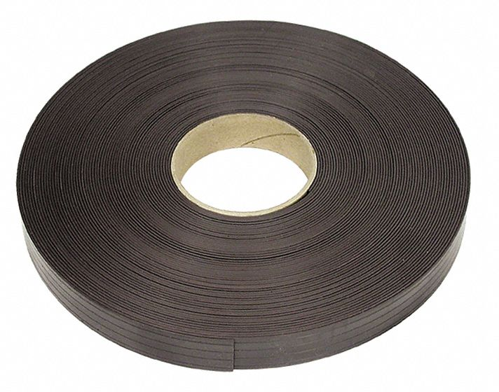 Magnetic Strip,  Grooved Weak Side,  13 lb Max. Pull,  100 ft Length,  1 in Width