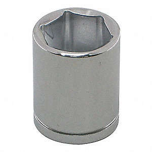 "5/8"" Alloy Steel Socket with 1/4"" Drive Size and Chrome Finish"