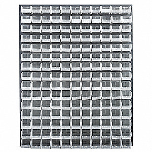 "48"" x 8"" x 61"" Louvered Panel with 500 lb. Load Capacity, Gray"