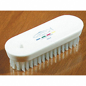 BRUSH NAIL FLAT BACK 4 3/4IN WH