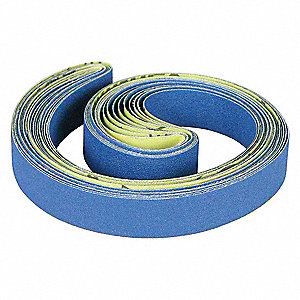 "Sanding Belt, 23-5/8"" Length, 1-3/16"" Width, Zirconia Alumina, 60 Grit, Medium, Coated, PK10"