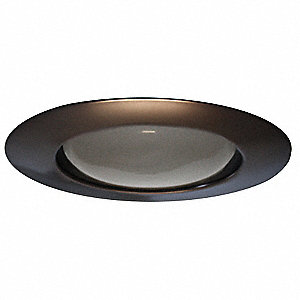 "6"" Bronze Open Style Halogen, Incandescent, LED Recessed Downlight Trim,"