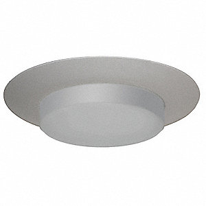 "6"" White Drop Opal Style Halogen, Incandescent, LED Recessed Downlight Trim,"