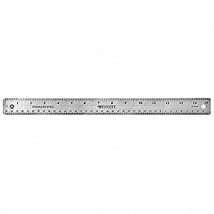 Ruler,15 Inch,Stainless Steel