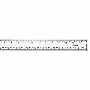 Ruler,18 Inch,Clear Acrylic