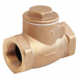 Swing Check Valve,Bronze,1-1/2 In.,NPT