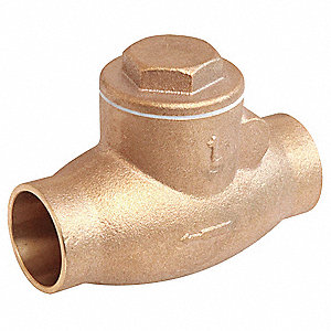 Swing Check Valve,Bronze,1 In.,Solder