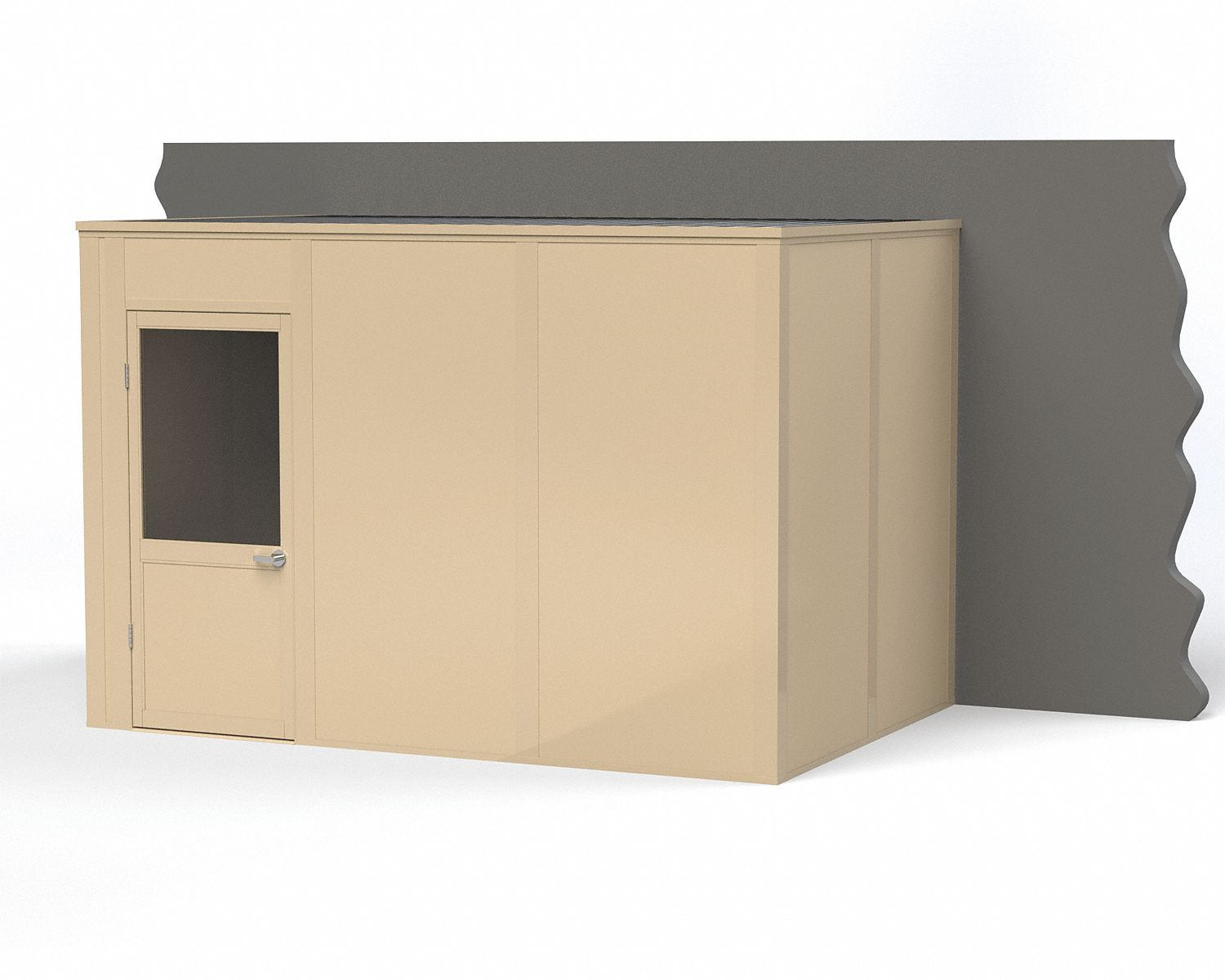 Modular In-Plant Office,  3-Wall,  12 ft. Width,  8 ft. Depth,  8 ft. Height