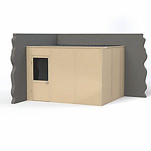 Modular In-Plant Office,  2-Wall,  12 ft. Width,  10 ft. Depth,  8 ft. Height