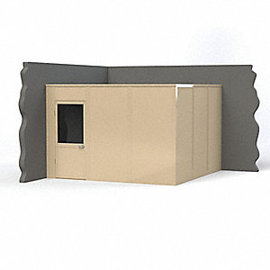Modular In-Plant Office, 2Wall, 12x12