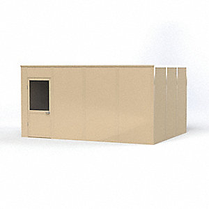Modular In-Plant Office,  4-Wall,  16 ft. Width,  12 ft. Depth,  8 ft. Height