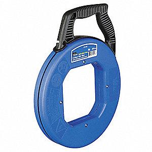 Ideal 50 ft fish tape fiberglass 3 16 tape size round for Ideal fiberglass fish tape