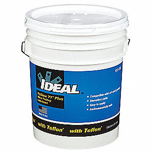 Cable and Wire Pulling Lubricant, 5 gal. Pail, Water Chemical Base, Yellow Color