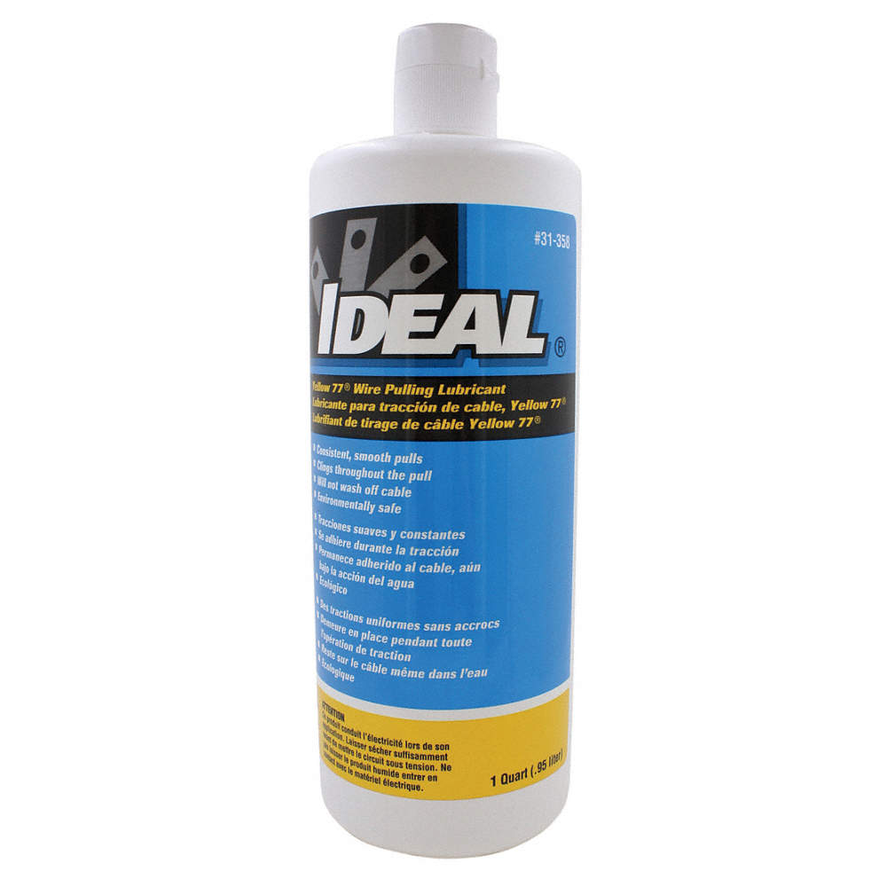 IDEAL Cable and Wire Pulling Lubricant, 1 qt. Squeeze Bottle, Water ...