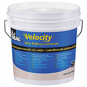 Cable and Wire Pulling Lubricant, 1 gal. Pail, Water Chemical Base, White Color