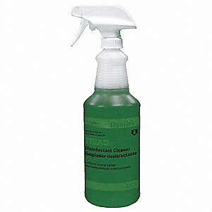 Clear Polyethylene Preprinted Trigger Spray Bottle, 32 oz., 1 EA