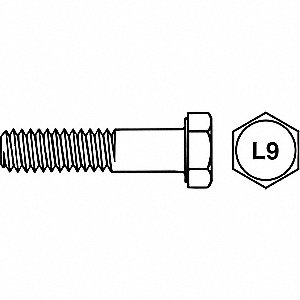 SCREW HX L9 ZC-DICH 9/16-18X3 1/2
