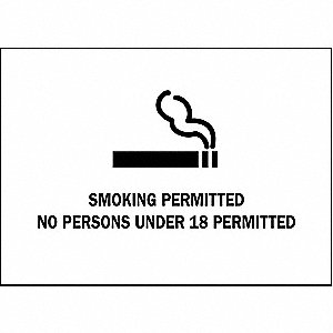 SIGN ALBERTA SMOKING 10X14 SS