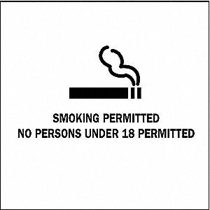 SIGN ALBERTA SMOKING 4X4 B946 5/PK