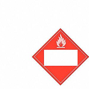PLACARD TDG FLAMM LIQUID 10-3/4IN