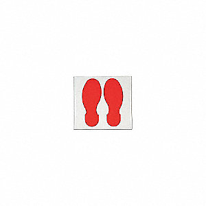 RED FOOTPRINT 10FTX3.5FT 10/PKG