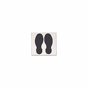 BLK FOOTPRINT 10FT X 3.5FT 10/PKG