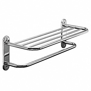 "26-3/32""L x 8-1/4""H x 9""D Polished Chrome Towel Shelf"