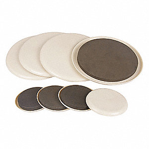Grainger Approved Round Self Stick Adhesive Furniture Glides Tan 3
