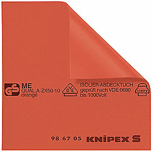 Insulated Mat,19-11/16 x 19-11/16 In,Red