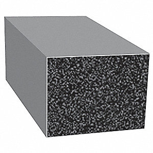 Rubber Seal,Rectangle,0.75 In W,500 Ft