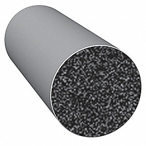 Rubber Seal,Solid Round,0.5 In W,25 Ft