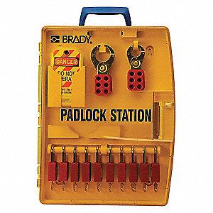STATION PADLOCK W/5 STEEL PADLOCKS
