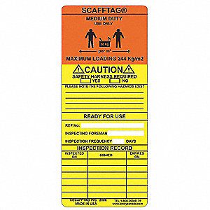 SCAFFTAG INS MEDIUM DUTY CAUTION