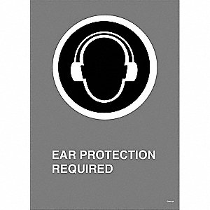 SIGN PLASTIC EAR PROTECT 14X10