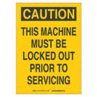 SIGN CAUTION 14X10