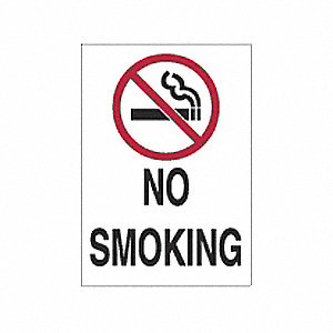 SIGN NO SMOKING W/PICTO N/H 10X7