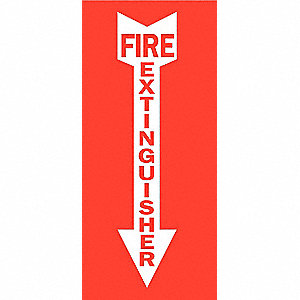SIGN FIRE N/H 14 X 3 1/2