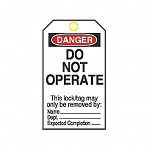 TAG DO NOT OPERATE STRIPED #2 25/PK