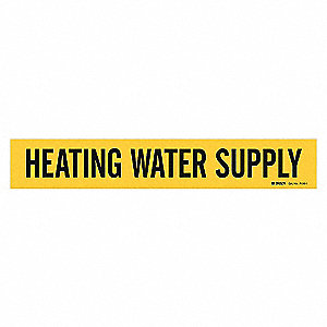 PIPEMARKER 91882 HEATING WATER SUPP