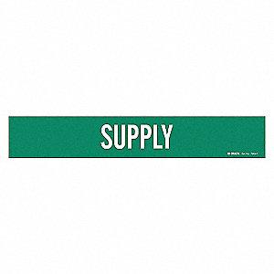 PIPEMARKER 79125 SUPPLY STY 1 GRN/W