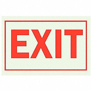 SIGN EXIT SELF STK 10X14