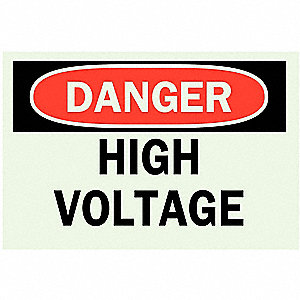 SIGN DANGER HI VOLT SELF STK 7X10