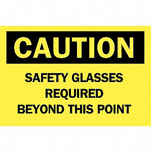 SIGN CAUTION 14X20