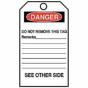TAG DO NOT OPERATE 25/PK