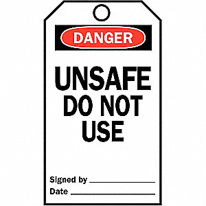 TAG UNSAFE 25/PK